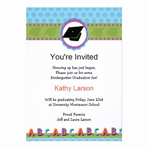 Kindergarten Graduation Invitation Templates Free Awesome Kindergarten Graduation Invitation