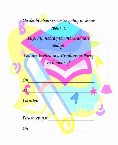 Kindergarten Graduation Invitation Templates Free Beautiful Printable Preschool Graduation Invitation