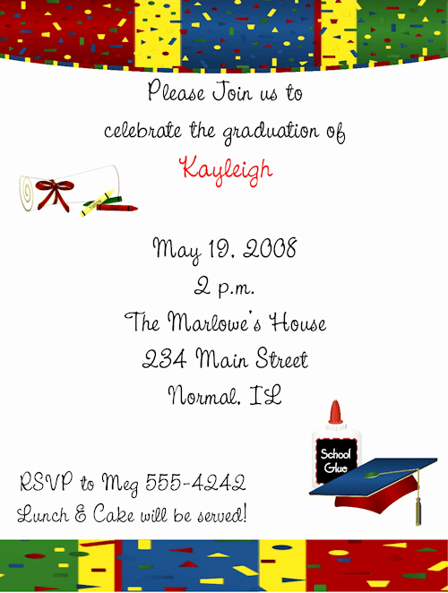Kindergarten Graduation Invitation Templates Free Best Of Pre K Graduation Invitation Template