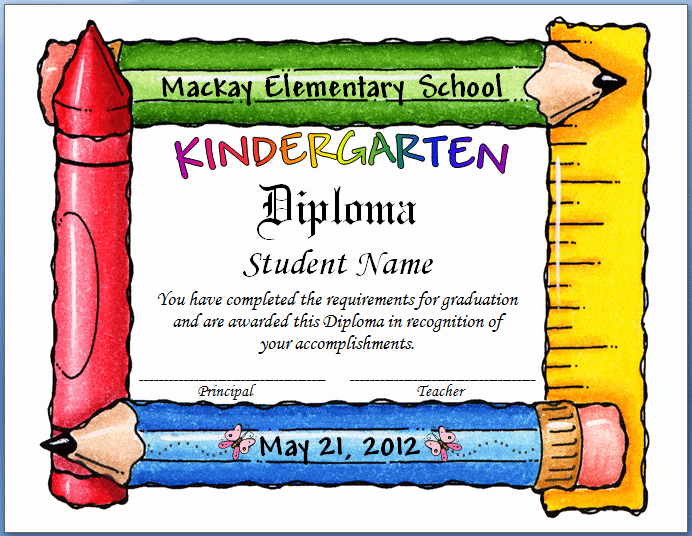 Kindergarten Graduation Invitation Templates Free Elegant Free Template for Graduation Invitation Kindergarten
