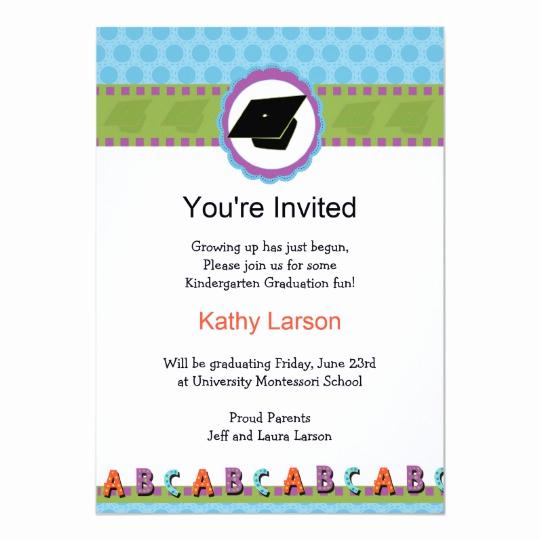 Kindergarten Graduation Invitation Templates Free Elegant Kindergarten Graduation Invitation