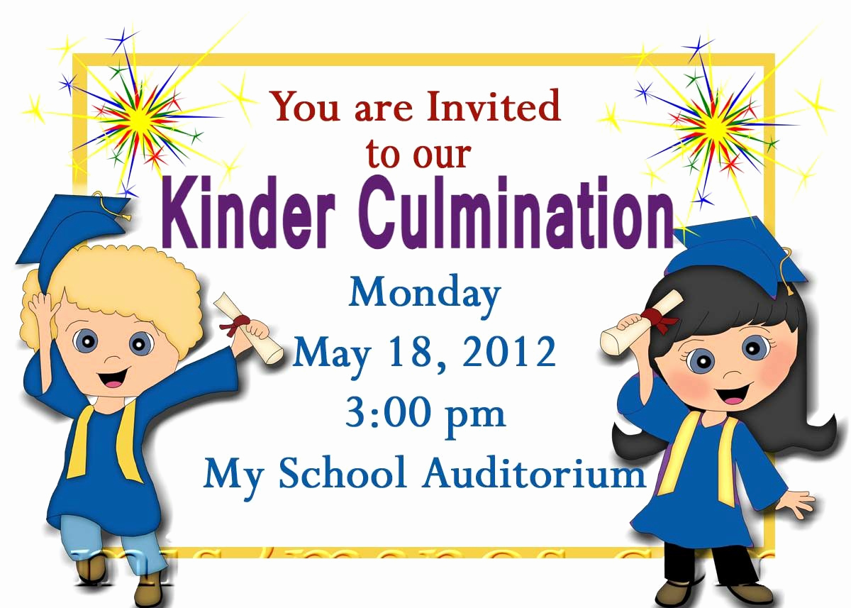 Kindergarten Graduation Invitation Templates Free Fresh Free Printable Kindergarten Graduation Announcements