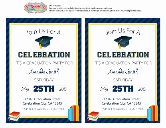 Kindergarten Graduation Invitation Templates Free Inspirational Free Editable Graduation Party Invitation Freeprintables
