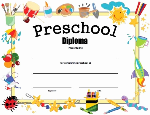 Kindergarten Graduation Invitation Templates Free Lovely Free Printable Preschool Diploma Graduation