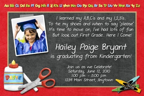 Kindergarten Graduation Invitation Templates Free Lovely Prekindergarten Graduation Invitation