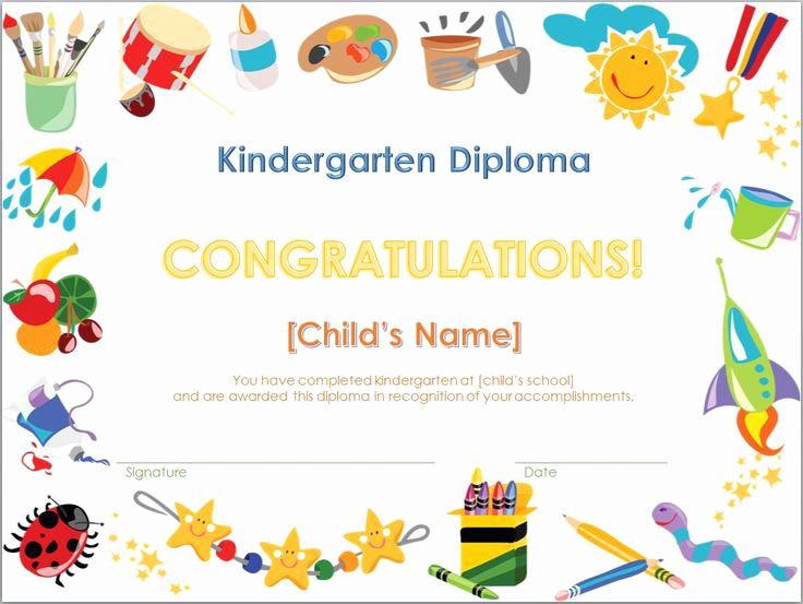 Kindergarten Graduation Invitation Templates Free Lovely Screenshot Of the Kindergarten Diploma Template