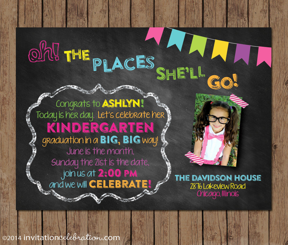 Kindergarten Graduation Invitation Wording Beautiful Dr Seuss Kindergarten Graduation Invitation Preschool