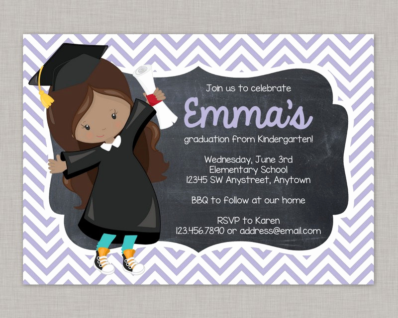 Kindergarten Graduation Invitation Wording Beautiful Kindergarten Graduation Invitation Preschool Graduation