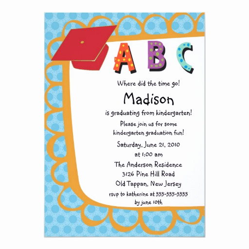 Kindergarten Graduation Invitation Wording Best Of Cute Pink Boys Kindergarten Graduation Invitation