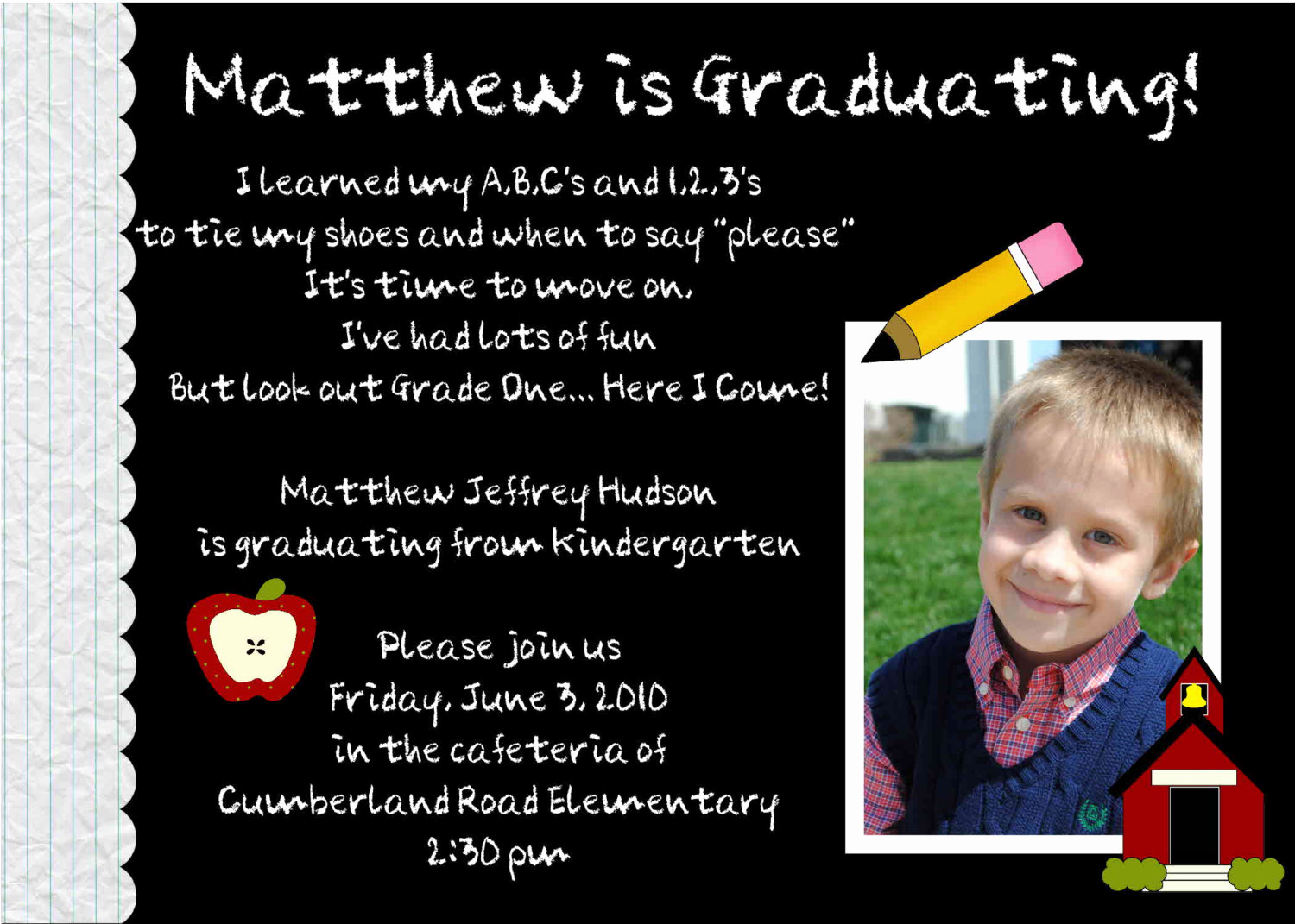 Kindergarten Graduation Invitation Wording Best Of Digital Preschool Kindergarten Graduation by