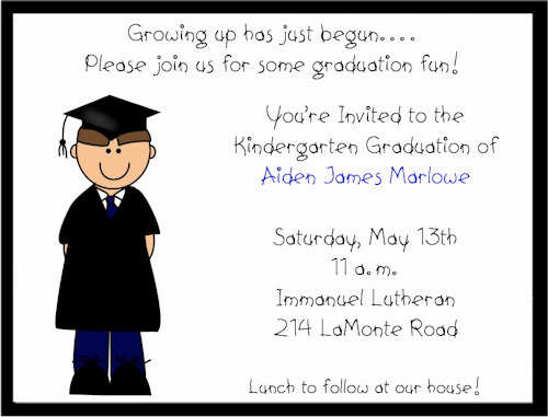 Kindergarten Graduation Invitation Wording Lovely Prekindergarten Graduation Invitation
