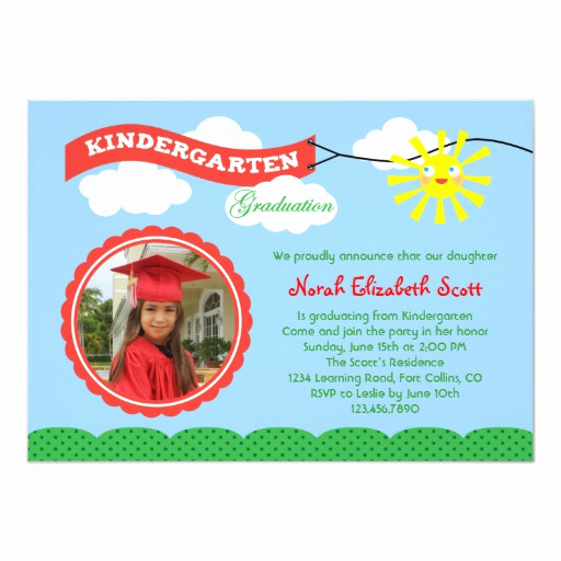 Kindergarten Graduation Invitation Wording Unique Kindergarten Graduation Invitation