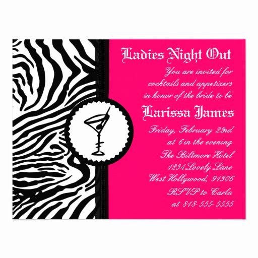 "Ladies Night Invitation Wording Awesome La S Night Bachelorette Party Invitation 4 25"" X 5 5"
