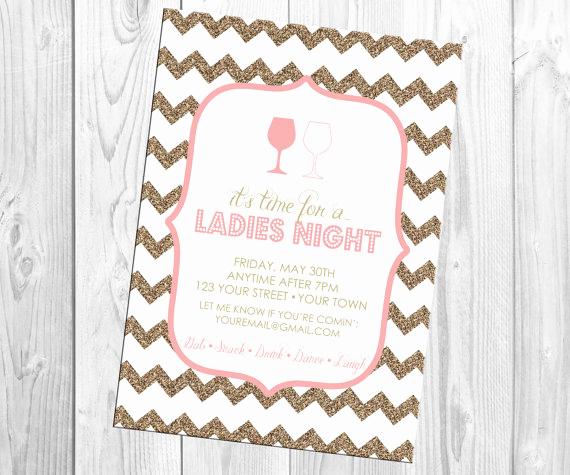 Ladies Night Invitation Wording Beautiful Invitation La S Night Invitation Weddbook
