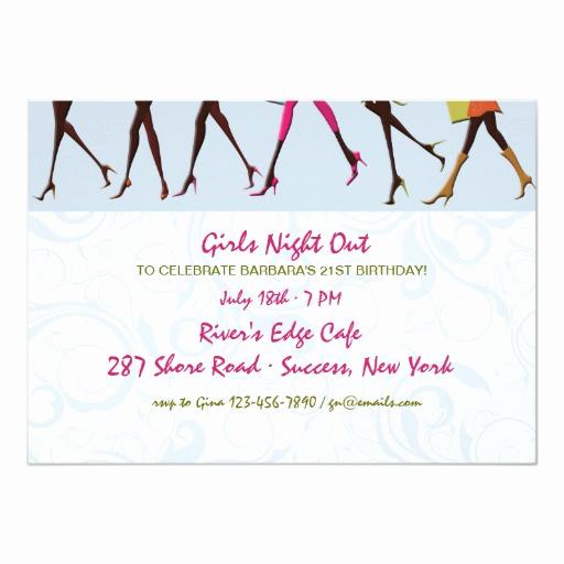 Ladies Night Invitation Wording Beautiful La S Legs Girl S Night Out Invitation