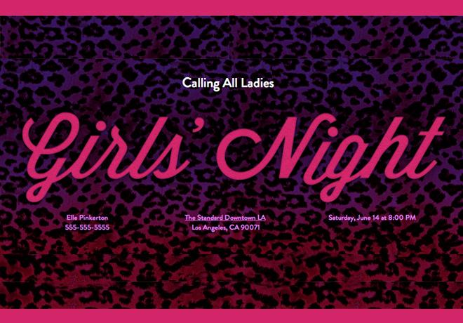 Ladies Night Invitation Wording Elegant Girls Night Invitation Ideas Evite