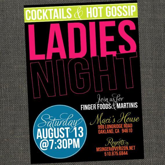 Ladies Night Invitation Wording Elegant Items Similar to La S Night Girls Night Out Party