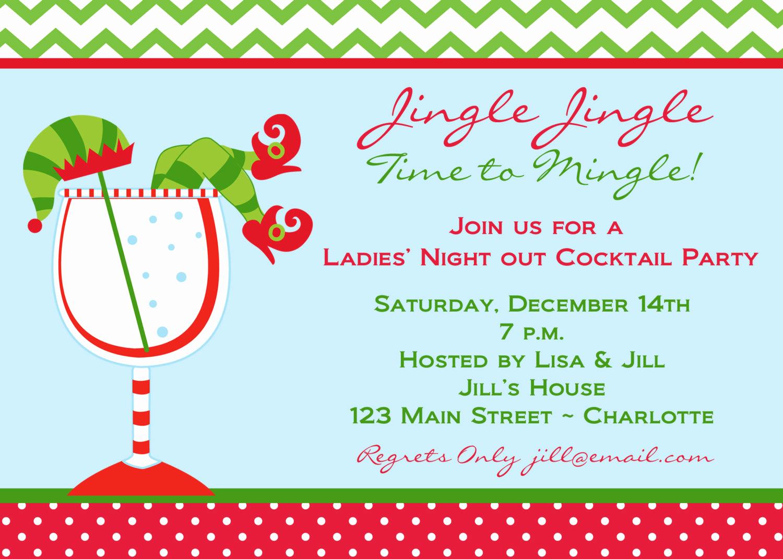 Ladies Night Invitation Wording Fresh Items Similar to Holiday Party Invitation La S Night
