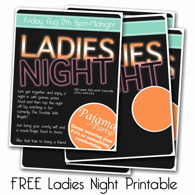 Ladies Night Invitation Wording Fresh La S Night Invitation Free Printable Everyday Mom Ideas