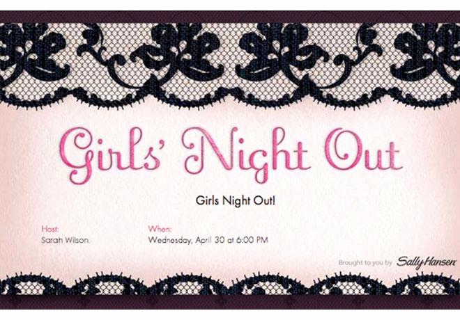 Ladies Night Invitation Wording Inspirational Girls Night Invitation Ideas Evite