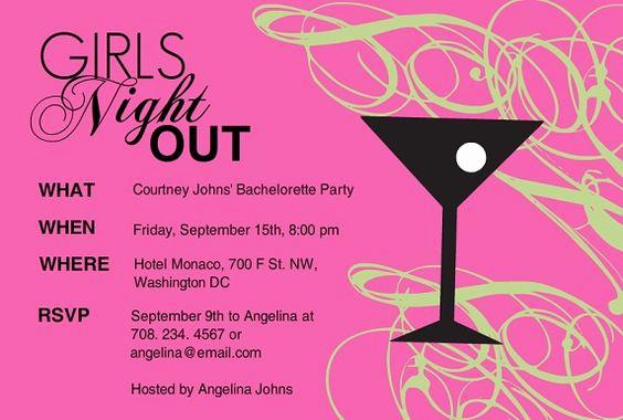 Ladies Night Invitation Wording Inspirational Girls Night Invitation Wording