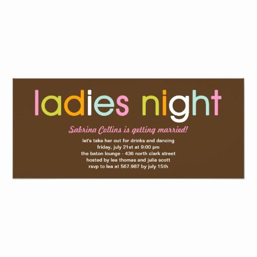Ladies Night Invitation Wording Inspirational La S Night Bachelorette Party Invitation