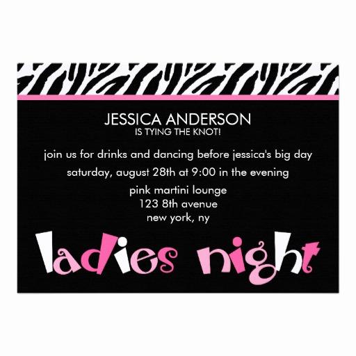 "Ladies Night Invitation Wording New La S Night Bachelorette Party Invitations 5"" X 7"