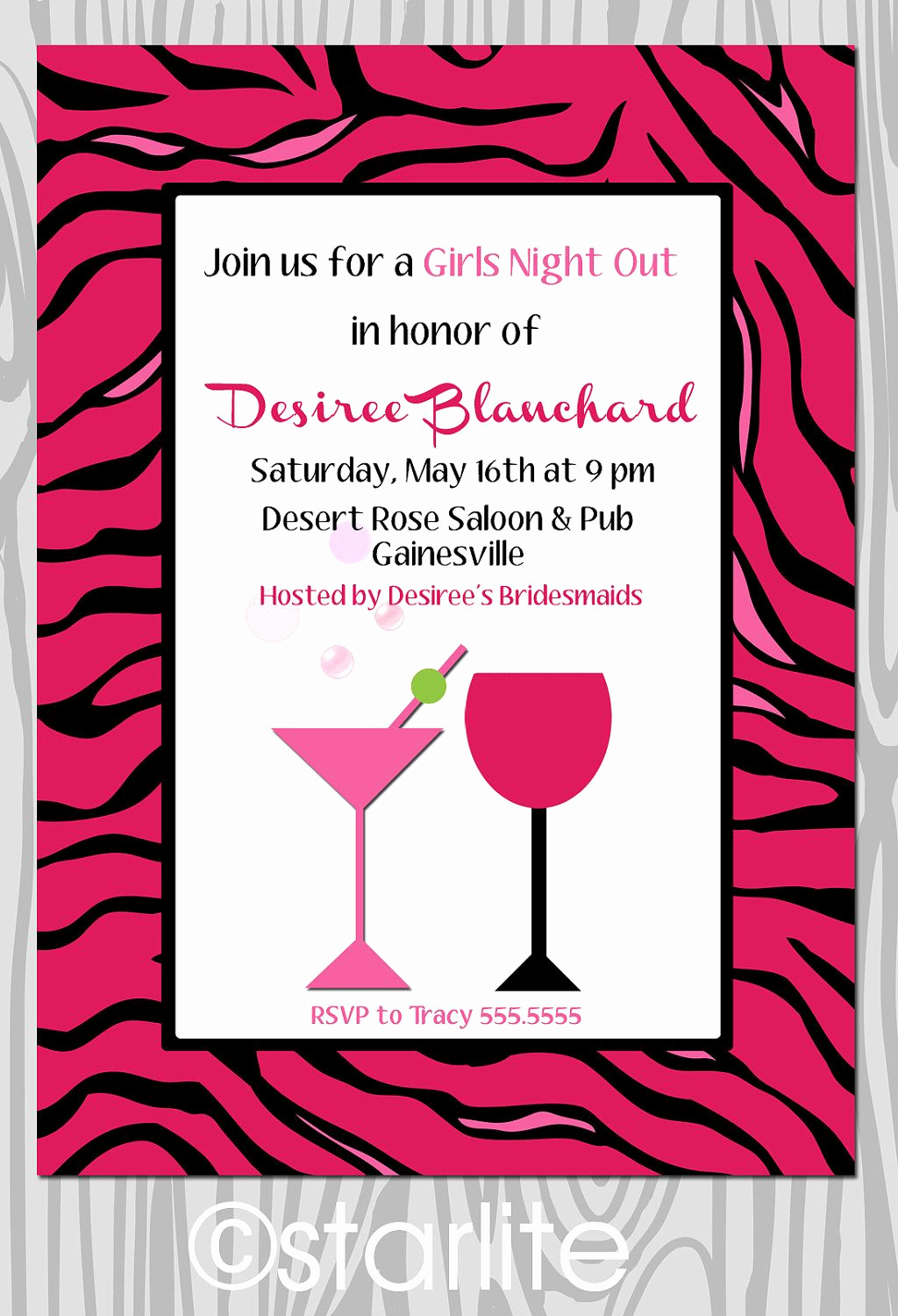 Ladies Night Out Invitation Wording Best Of Girls Night Out Bachlorette Party or Birthday Invitation
