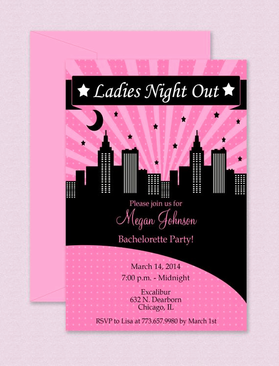 Ladies Night Out Invitation Wording Best Of La S Night Out Invitation Editable Template Microsoft