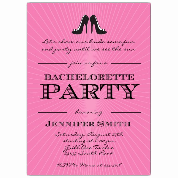 Ladies Night Out Invitation Wording Elegant Black Heels Girls Night Out Bachelorette Invites