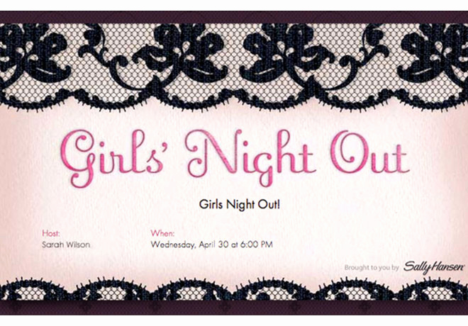 Ladies Night Out Invitation Wording Elegant Girls Night Invitation Ideas Evite