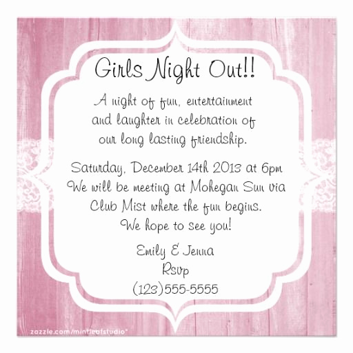 Ladies Night Out Invitation Wording Fresh 10 Best Invitations for Bdays and Girls Night Images On