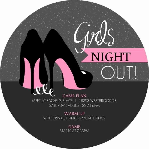 Ladies Night Out Invitation Wording Fresh Pink High Heels Girls Night Out Invitation