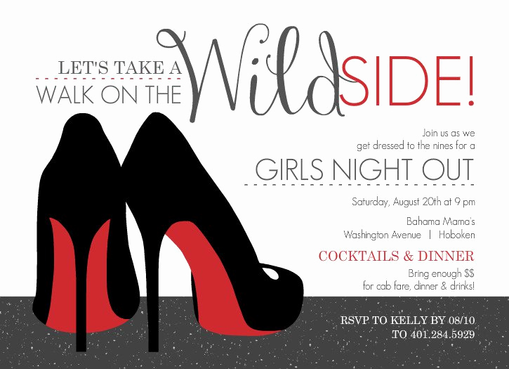 Ladies Night Out Invitation Wording Lovely Girls Night Out Invitation Templates