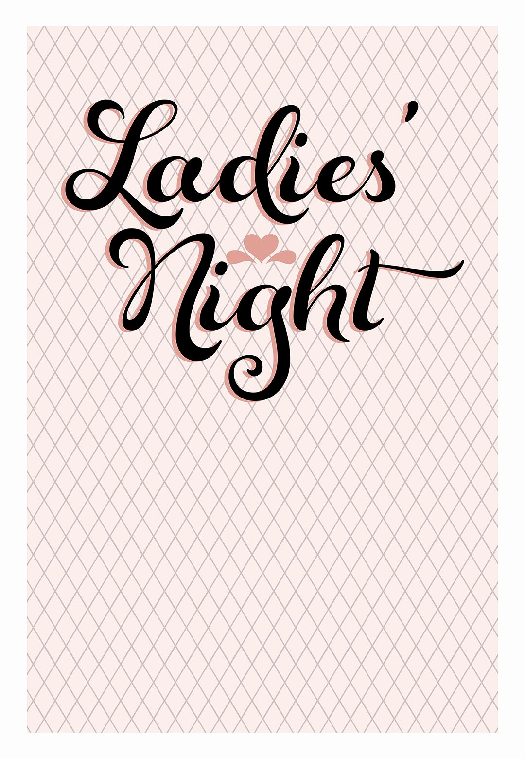 Ladies Night Out Invitation Wording New Free Printable La S Night Invitation