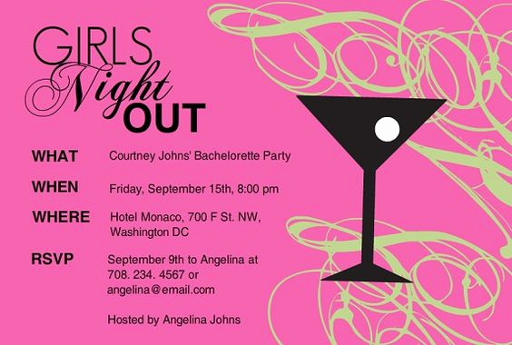 Ladies Night Out Invitation Wording New Girls Night Invitation Wording
