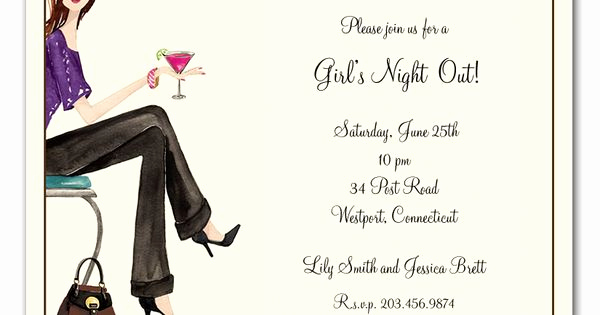 Ladies Night Out Invitation Wording Unique Girls Night Invitation Wording