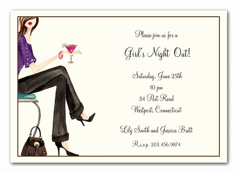 Ladies Night Out Invitation Wording Unique Girls Night Out Invitation by Bonnie Marcus