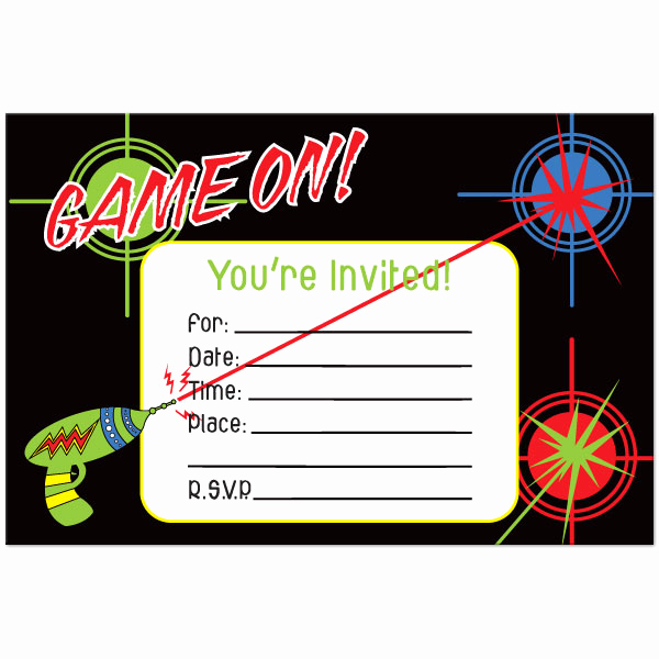Laser Tag Invitation Template Awesome Free Laser Tag Invitation Template – Omg Invitation