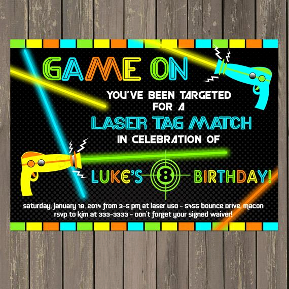 Laser Tag Invitation Template Beautiful Laser Tag Invitation Laser Tag Birthday Invitation Boys