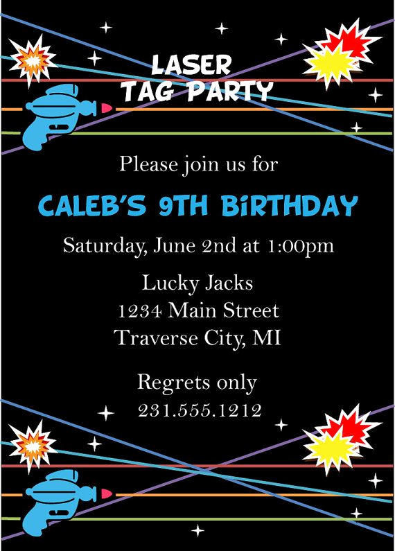 Laser Tag Invitation Template Best Of Laser Tag Birthday Invitation Laser Tag Invitation