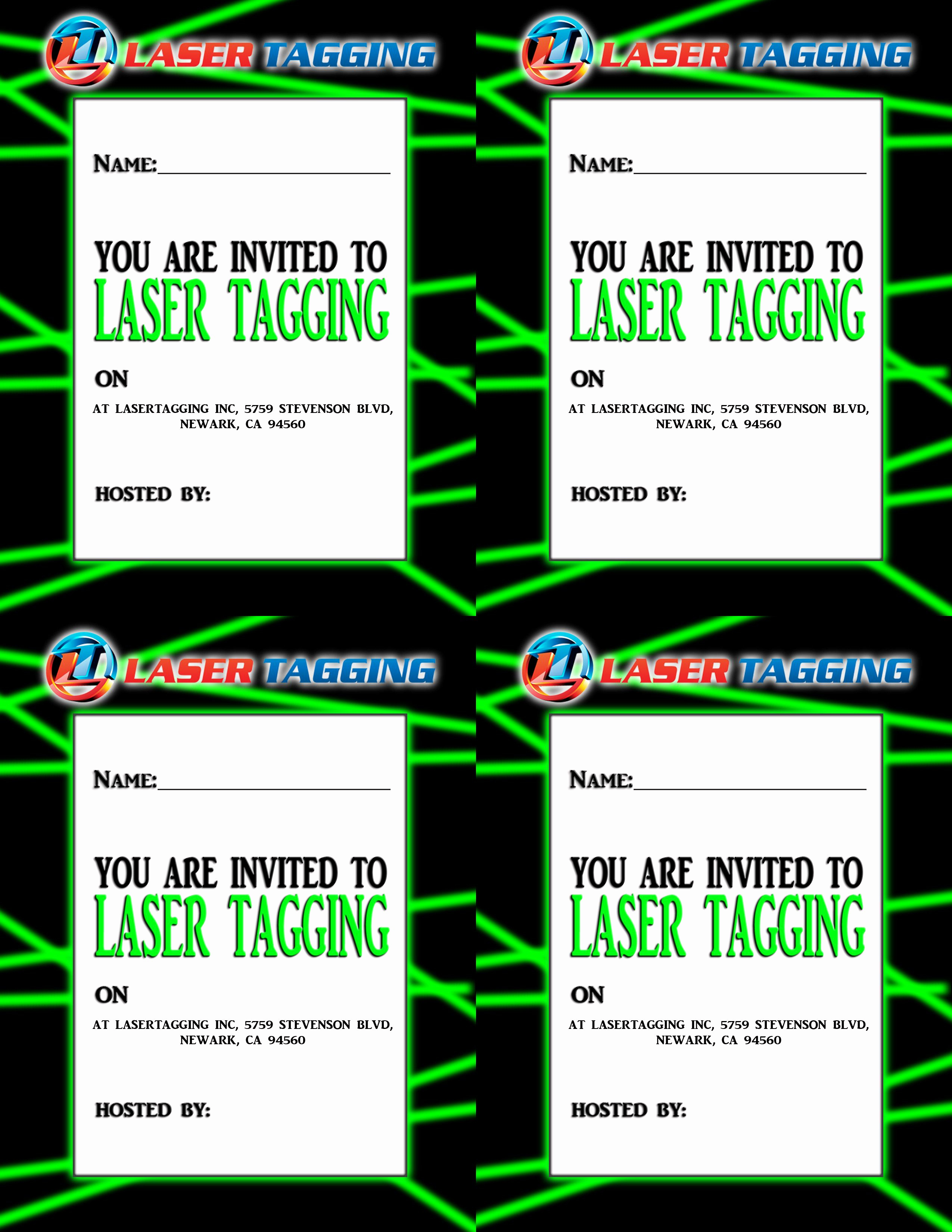 Laser Tag Invitation Template Best Of Laser Tag Free Printables