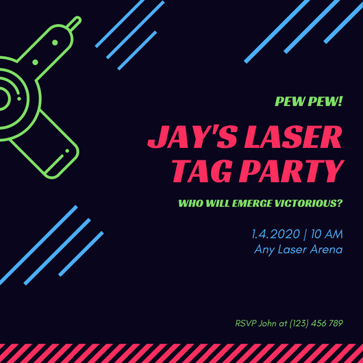 Laser Tag Invitation Template Elegant Customize 302 Tag Templates Online Canva
