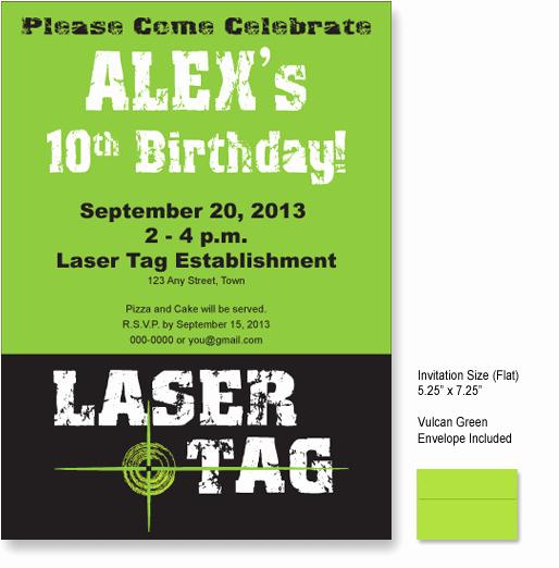 Laser Tag Invitation Template Elegant Laser Tag Party Invitations Ideas