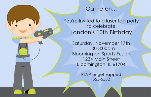 Laser Tag Invitation Template Fresh Laser Tag Birthday Invitations Ideas Free – Bagvania Free