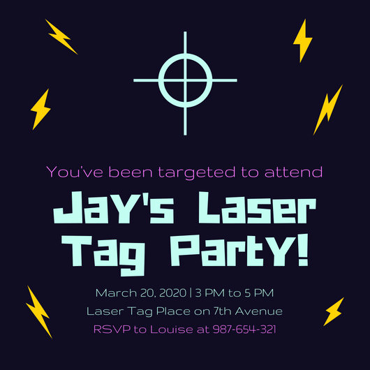 Laser Tag Invitation Template Inspirational Customize 302 Tag Templates Online Canva