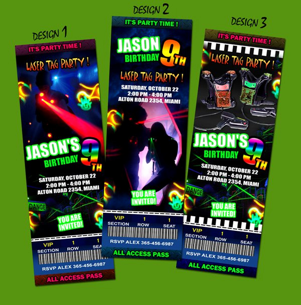 Laser Tag Invitation Template Lovely Laser Tag Party Invitation Wording