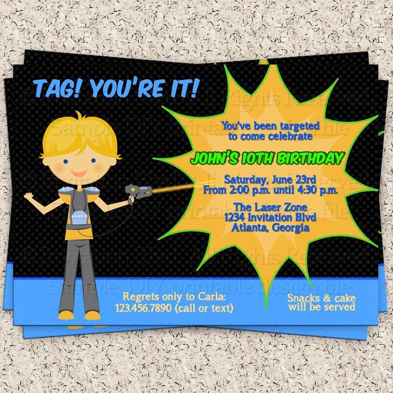 Laser Tag Invitation Template Luxury Laser Tag Invitation Boy Laser Tag Invitation Laser