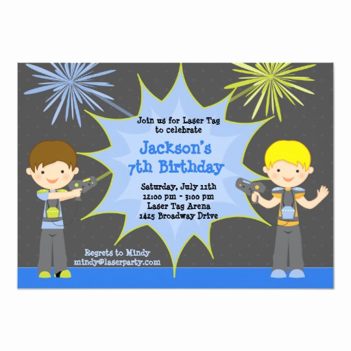 Laser Tag Invitation Wording Best Of Laser Tag Birthday Party Invitation