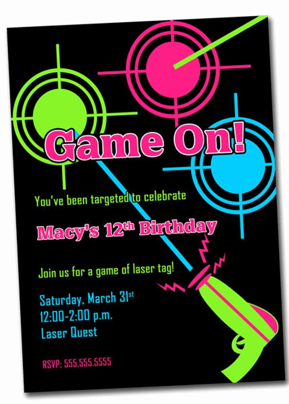 laser tag party invitation printable